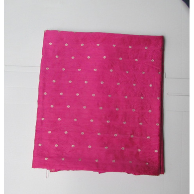 S H A H I T A J Rani or Magenta Dotted Barati/Groom/Social Occasions Silk Pagdi Safa Turban or Pheta Cloth for Kids and Adults (CT792)-ST914