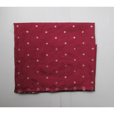 S H A H I T A J Maroon Dotted Barati/Groom/Social Occasions Silk Pagdi Safa Turban or Pheta Cloth for Kids and Adults (CT793)-ST915