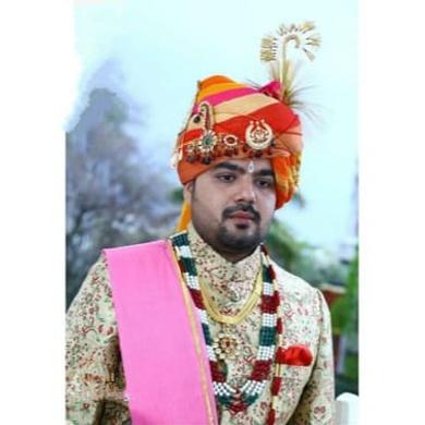 S H A H I T A J Traditional Rajasthani Wedding  Multi-Colored Checkered Silk Jodhpuri & Rajputi Pagdi Safa or Turban for Groom or Dulha (CT273)-ST353_21