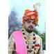S H A H I T A J Traditional Rajasthani Wedding  Multi-Colored Checkered Silk Jodhpuri & Rajputi Pagdi Safa or Turban for Groom or Dulha (CT273)-ST353_21-sm