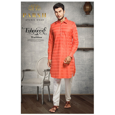 S H A H I T A J Traditional Barati/Groom/Social Occasions Pathani Cotton Kurta with Pajama for Adults (MW809)-ST929_36