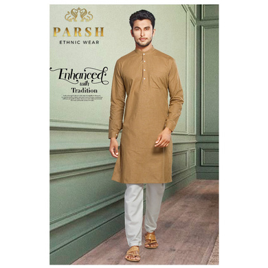 S H A H I T A J Traditional Barati/Groom/Social Occasions Cotton Kurta with Pajama for Adults (MW811)-ST931_36