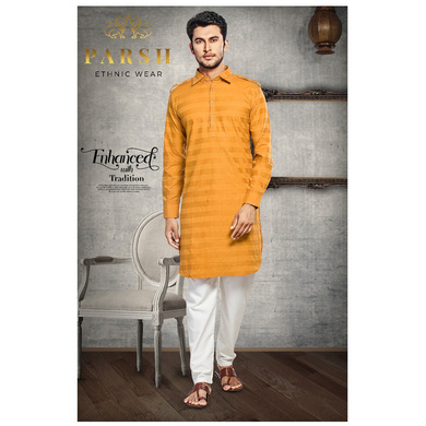 S H A H I T A J Traditional Barati/Groom/Social Occasions Pathani Cotton Kurta with Pajama for Adults (MW812)-ST932_36