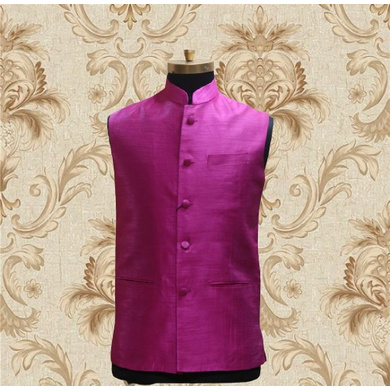 S H A H I T A J Traditional Barati/Groom/Social Occasions Silk Nehru Jacket or Kothi for Adults (MW801)-ST921_36