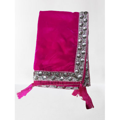 S H A H I T A J Traditional Rajasthani Wedding Rani Velvet Stole/Dupatta/Shawl for Groom or Dulha (DS813)-ST933