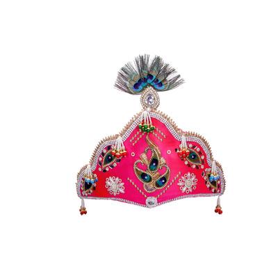 S H A H I T A J Traditional Silk Bhagwan Mukut Pagdi Safa or Turban for God's Idol/Kids/Adults (RT815)-ST935_Mini