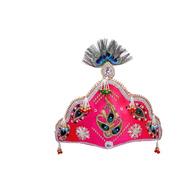 S H A H I T A J Traditional Silk Bhagwan Mukut Pagdi Safa or Turban for God's Idol/Kids/Adults (RT815)