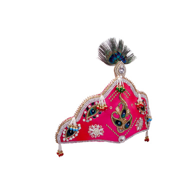 S H A H I T A J Traditional Silk Bhagwan Mukut Pagdi Safa or Turban for God's Idol/Kids/Adults (RT815)-For Miniature God's Idol (3 inches to 16 inches)-4