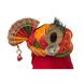S H A H I T A J Traditional Rajasthani Multi-Colored Mock Fabric Krishna Bhagwan Pagdi Safa or Turban for God's Idol/Kids/Adults (RT307)-ST460_Adults-sm