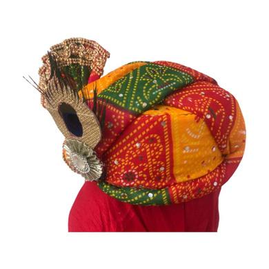 S H A H I T A J Traditional Rajasthani Multi-Colored Mock Fabric Krishna Bhagwan Pagdi Safa or Turban for God's Idol/Kids/Adults (RT307)-For Miniature God's Idol (3 inches to 16 inches)-3