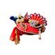 S H A H I T A J Traditional Rajasthani Multi-Colored Net & Brocade Krishna Bhagwan Pagdi Safa or Turban for God's Idol/Kids/Adults (RT299)-ST402_Adults-sm