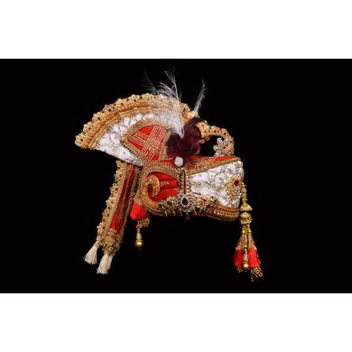 S H A H I T A J Traditional Rajasthani Brocade Multi-Colored Bhagwan ki Pagdi Safa or Turban for God's Idol/Kids/Adults (RT289)-ST383_Mini