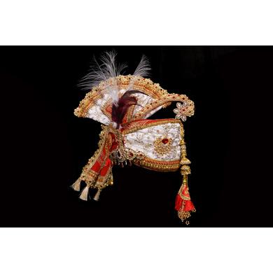 S H A H I T A J Traditional Rajasthani Brocade Multi-Colored Bhagwan ki Pagdi Safa or Turban for God's Idol/Kids/Adults (RT289)-For Miniature God's Idol (3 inches to 16 inches)-4