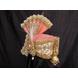 S H A H I T A J Traditional Rajasthani Peach Color Brocade & Silk Bhagwan ki Pagdi Safa or Turban for God's Idol/Kids/Adults (RT313)-For Miniature God's Idol (3 inches to 16 inches)-3-sm