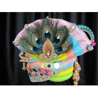 S H A H I T A J Traditional Rajasthani Multi-Colored Silk Krishna Bhagwan Pagdi Safa or Turban for God's Idol/Kids/Adults (RT305)