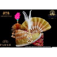 S H A H I T A J Traditional Rajasthani Multi-Colored Silk Bhagwan ki Pagdi Safa or Turban for God's Idol/Kids/Adults (RT279)