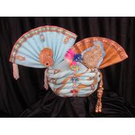 S H A H I T A J Traditional Rajasthani Silk Bhagwan ki Pagdi Safa or Turban for God's Idol/Kids/Adults (RT311)