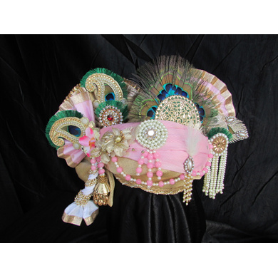 S H A H I T A J Traditional Rajasthani Multi-Colored Cotton Krishna Bhagwan Pagdi or Turban for God's Idol/Kids/Adults (RT275)-For Miniature God's Idol (3 inches to 16 inches)-4