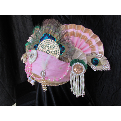 S H A H I T A J Traditional Rajasthani Multi-Colored Cotton Krishna Bhagwan Pagdi or Turban for God's Idol/Kids/Adults (RT275)-For Miniature God's Idol (3 inches to 16 inches)-3