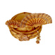 S H A H I T A J Traditional Rajasthani Golden Color Silk Swaminarayan Bhagwan ki Pagdi Safa or Turban for God's Idol/Kids/Adults (RT150)-For Miniature God's Idol (3 inches to 16 inches)-4-sm