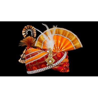 S H A H I T A J Traditional Rajasthani Multi-Colored Silk Bhagwan ki Pagdi Safa or Turban for God's Idol/Kids/Adults (RT280)-ST366_Kids
