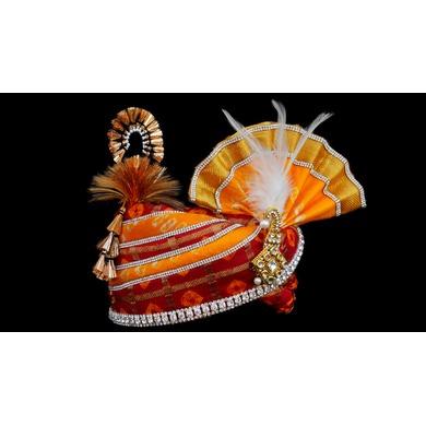 S H A H I T A J Traditional Rajasthani Multi-Colored Silk Bhagwan ki Pagdi Safa or Turban for God's Idol/Kids/Adults (RT280)-For Miniature God's Idol (3 inches to 16 inches)-3