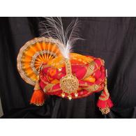 S H A H I T A J Traditional Rajasthani Multi-Colored Silk Bhagwan ki Pagdi Safa or Turban for God's Idol/Kids/Adults (RT315)