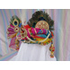 S H A H I T A J Traditional Rajasthani Multi-Colored Silk Krishna Bhagwan Pagdi Safa or Turban for God's Idol/Kids/Adults (RT304)-For Miniature God's Idol (3 inches to 16 inches)-3-sm