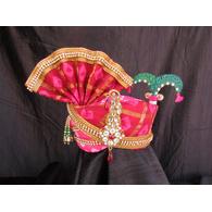 S H A H I T A J Traditional Rajasthani Multi-Colored Silk Bhagwan ki Pagdi Safa or Turban for God's Idol/Kids/Adults (RT316)