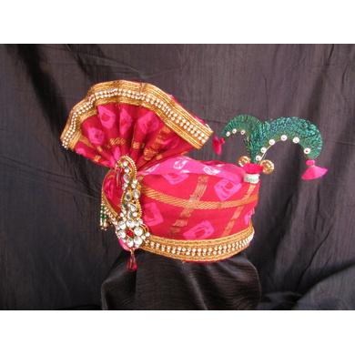 S H A H I T A J Traditional Rajasthani Multi-Colored Silk Bhagwan ki Pagdi Safa or Turban for God's Idol/Kids/Adults (RT316)-For Miniature God's Idol (3 inches to 16 inches)-4