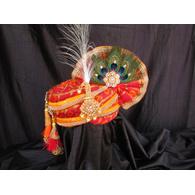 S H A H I T A J Traditional Rajasthani Multi-Colored Silk Krishna Bhagwan Pagdi Safa or Turban for God's Idol/Kids/Adults (RT314)