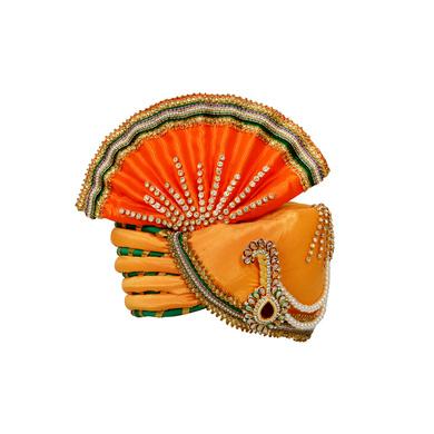 S H A H I T A J Traditional Rajasthani Multi-Colored Ganpati Bhagwan Silk Pagdi Safa or Turban for God's Idol/Kids/Adults (RT292)-ST388_Large