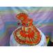 S H A H I T A J Traditional Rajasthani Silk Orange or Kesariya Laddu Gopal Bhagwan ki Pagdi Safa or Turban with Bottom Dress for God's Idol (RT442)-ST578_Mini-sm