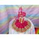 S H A H I T A J Traditional Rajasthani Silk Pink or Rani or Magenta Laddu Gopal Bhagwan ki Pagdi Safa or Turban with Bottom Dress for God's Idol (RT417)-ST577_Mini-sm