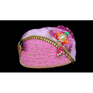 S H A H I T A J Traditional Rajasthani Multi-Colored Cotton Mewadi Krishna Bhagwan Pagdi or Turban for God's Idol/Kids/Adults (MT276)-For Miniature God's Idol (3 inches to 16 inches)-3