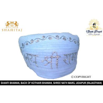 S H A H I T A J Traditional Rajasthani Shree Ram Cotton Mewadi Pagdi or Turban for God's Idol/Kids/Adults (MT287)-ST380_Adults
