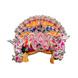 S H A H I T A J Traditional Multi-Colored Silk Krishna or Jagannath Bhagwan Pagdi Safa or Turban for Adults or God's Idol (RT817)-ST937_Large-sm