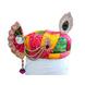 S H A H I T A J Traditional Rajasthani Multi-Colored Silk Krishna Bhagwan Pagdi Safa or Turban with Brooch for God's Idol/Kids/Adults (RT852)-ST972_Mini-sm