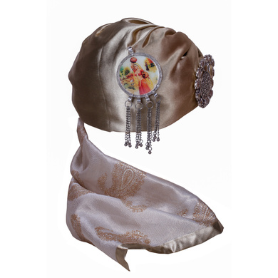 S H A H I T A J Designer Multi-Colored Satin Silk Unisex Kids and Adults Pagdi Safa or Turban for Fashion Shows & Events (DT853)-18-4