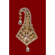 S H A H I T A J Traditional Golden Brooch or Kalangi with Feather for Barati/Groom/Social Occasions Pagdi Safa or Turban (OS832)-1-sm