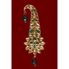 S H A H I T A J Traditional Golden with Green Stone Brooch or Kalangi with Feather for Barati/Groom/Social Occasions Pagdi Safa or Turban (OS827)-1-sm