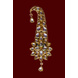 S H A H I T A J Traditional Golden Brooch or Kalangi with Feather for Barati/Groom/Social Occasions Pagdi Safa or Turban (OS823)-1-sm