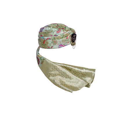 S H A H I T A J Designer Multi-Colored Brocade Unisex Kids and Adults Pagdi Safa or Turban for Fashion Shows & Events (DT836)-18-4