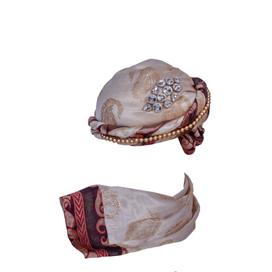 S H A H I T A J Designer Brocade Unisex Kids and Adults Pagdi Safa or Turban for Fashion Shows & Events (DT840)-18-4