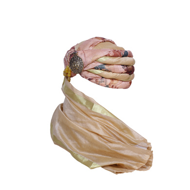S H A H I T A J Designer Floral Silk Unisex Kids and Adults Pagdi Safa or Turban for Fashion Shows & Events (DT842)-18-3