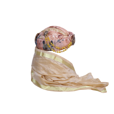 S H A H I T A J Designer Floral Silk Unisex Kids and Adults Pagdi Safa or Turban for Fashion Shows & Events (DT842)-18-4
