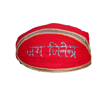 S H A H I T A J Traditional Rajasthani Cotton Mewadi Jai Jinendra Pagdi or Turban for Kids and Adults (MT848)-ST968_18andHalf