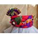 S H A H I T A J Traditional Rajasthani Multi-Colored Silk Vantma or Barmeri Krishna or Ganpati Bhagwan Pagdi Safa or Turban for God's Idol/Kids/Adults (RT860)-For Miniature God's Idol (3 inches to 16 inches)-4-sm