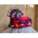 S H A H I T A J Traditional Rajasthani Multi-Colored Silk Vantma or Barmeri Krishna or Ganpati Bhagwan Pagdi Safa or Turban for God's Idol/Kids/Adults (RT860)-For Miniature God's Idol (3 inches to 16 inches)-3-sm