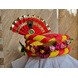 S H A H I T A J Traditional Rajasthani Multi-Colored Silk Vantma or Barmeri Krishna or Ganpati Bhagwan Pagdi Safa or Turban for God's Idol/Kids/Adults (RT861)-ST981_Mini-sm